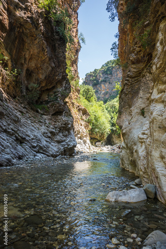 Photo sur Toile Riviere Mountain river gorge near Panta Vrexei in Evritania, Greece