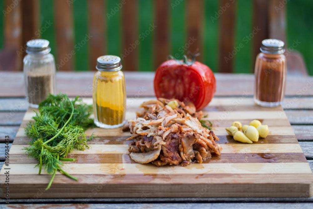 Turkish Chicken Doner / Shawarma Foto, Poster, Wandbilder bei ...