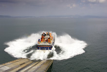 Launching A Lifeboat Down A Sl...