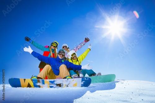 Montage in der Fensternische Wintersport Witnter leisure