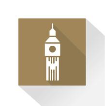 Long Shadow Icon Big Ben / London