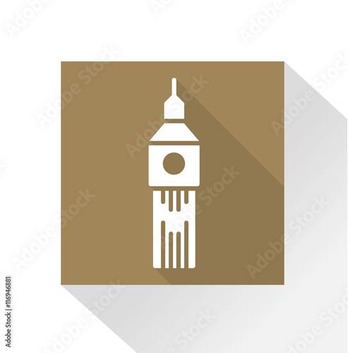 Vászonkép Long Shadow Icon Big Ben / London