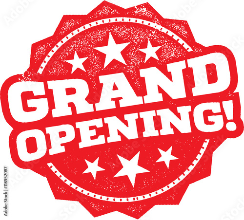 Stampa su Tela Grand Opening Business Stamp