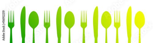 Fotografie, Obraz  posate, icone, cucina, cucinare, gastronomia