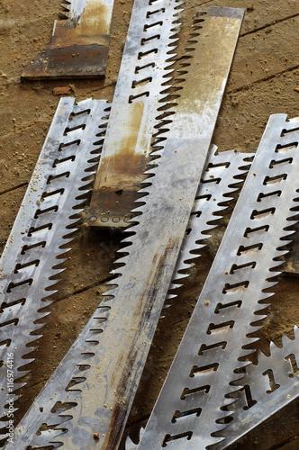 Fotografia, Obraz  old sawmill blades broken