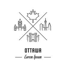 Vector Line Banner Ottawa