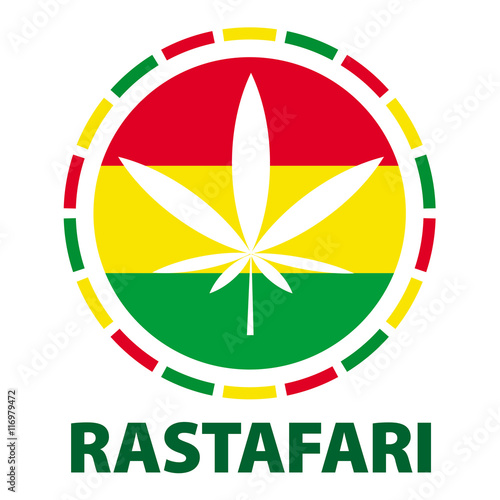 Fotografie, Obraz  Marijuana leaf in rastafari colours, vector illustration