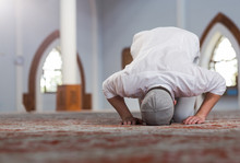 Religious Muslim Man Praying I...