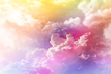 Colourful Dreamy Puffy Clouds ...