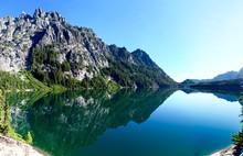 Reflecition In Lake. Upper Sno...