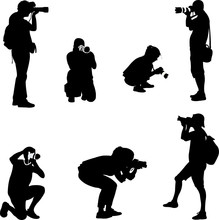 Photographers Silhouettes - Ve...