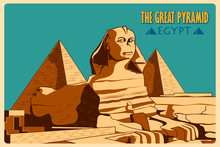Vintage Poster Of Sphinx And P...