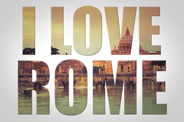Panel Szklany Rzym I love Rome - Vatican - Italie