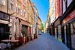 Old Ljubljana cobbled street view
