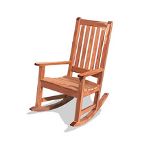 Wooden Rocking Chair - Rocker Furniture Illustration