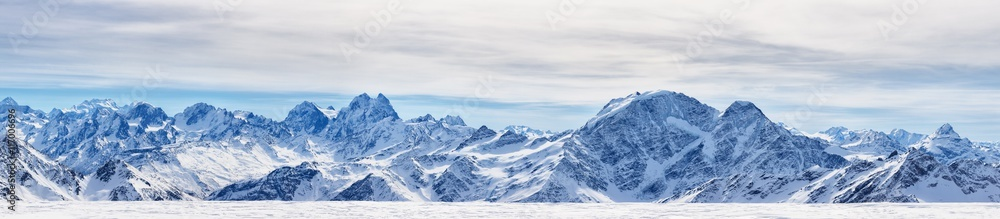 Fototapety, obrazy: Panoramic view of the northen Caucasus mountains