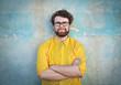 canvas print picture - Self-confident man's portrait
