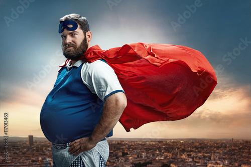 Cuadros en Lienzo Retrato divertido de un superhéroe