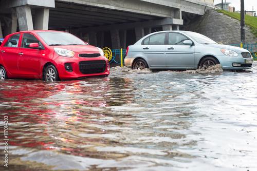 Plakat Powódź w mieście