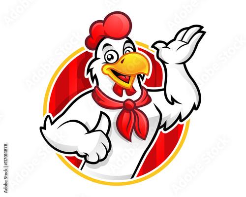 Fotografie, Obraz  Chicken logo, chicken mascot, chicken character