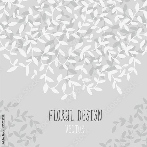 Decorative floral element border