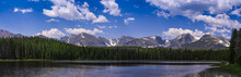 Panoramic View Of Bierstadt Lake In Rocky Mountain National Park, Colorado, USA