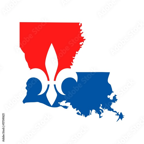 Vászonkép louisiana logo vector.
