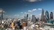 amazing london skyline on a sunny day