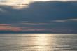 the ocean at dusk