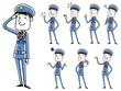 男性警備員:ポーズ バリエーション