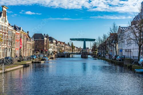 Photo  オランダ・ライデンの街並み
