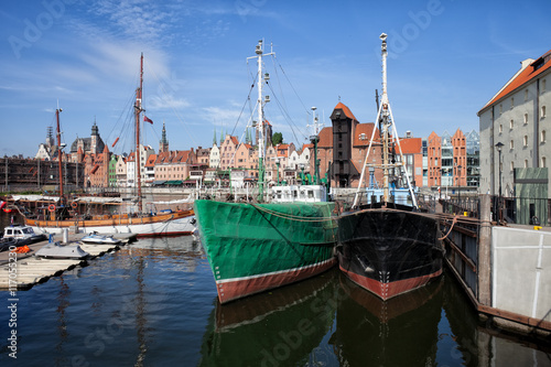 Plakat Gdansk Old Town Skyline From The Harbour