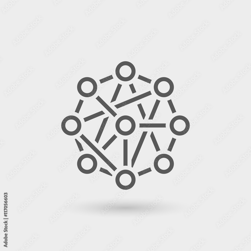 Fototapeta network icon background