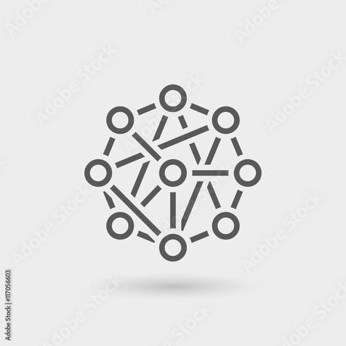 Obraz network icon background - fototapety do salonu