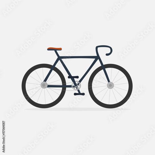 Cadres-photo bureau Velo Bike icon, vector isolated background. Flat vector illustration.