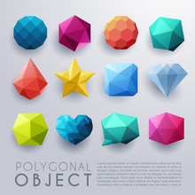 Abstract Polygonal Object : Vector Illustration
