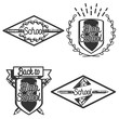Vintage back to school emblems