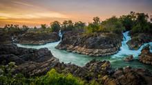 4000 Islands At Champasak, Laos