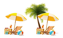 Vector Travel And Summer Beach...