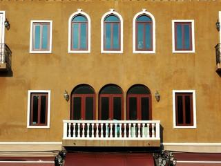 Panel Szklany Podświetlane Toskania Italian building style