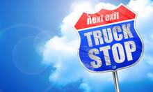 Truck Stop, 3D Rendering, Blue...