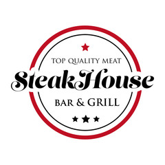 Panel Szklany Do steakhouse Steakhouse stamp logo - grill and bar