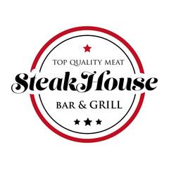 Fototapeta Do steakhouse Steakhouse stamp logo - grill and bar
