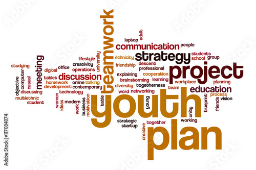 Valokuva  Youth Planword cloud concept