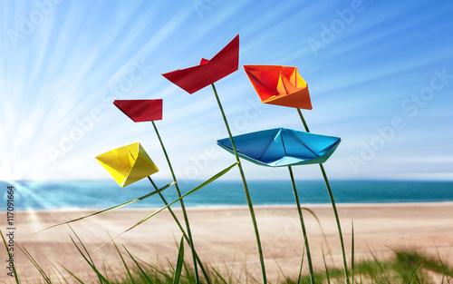 In de dag Noordzee Sommer am Strand