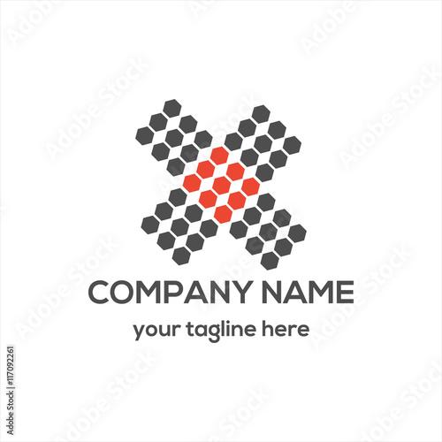 Photo  Letter X Typography Logo Vector
