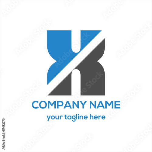 Photo  Letter X Typography Logo Vector