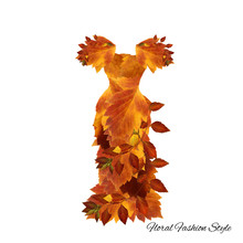 Fantastic Dress Made Of Flowers