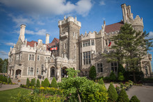 Castle Of Casa Loma In Toronto In The Summer