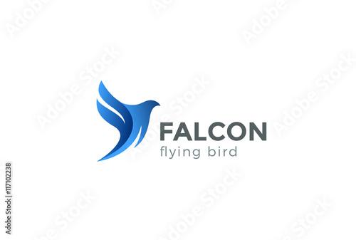 Photo  Falcon Bird Logo abstract design vector. Flying Eagle Hawk icon
